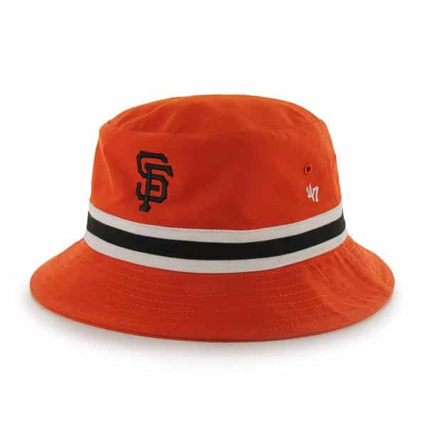 San Francisco Giants Striped Bucket Bright Orange 47 Brand Hat