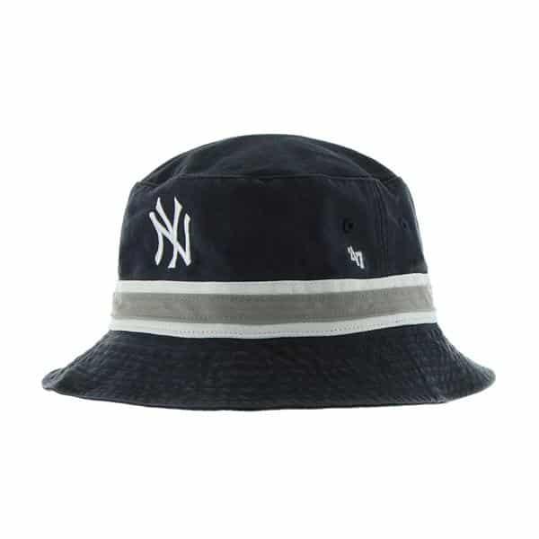 New York Yankees Striped Bucket Navy 47 Brand Hat