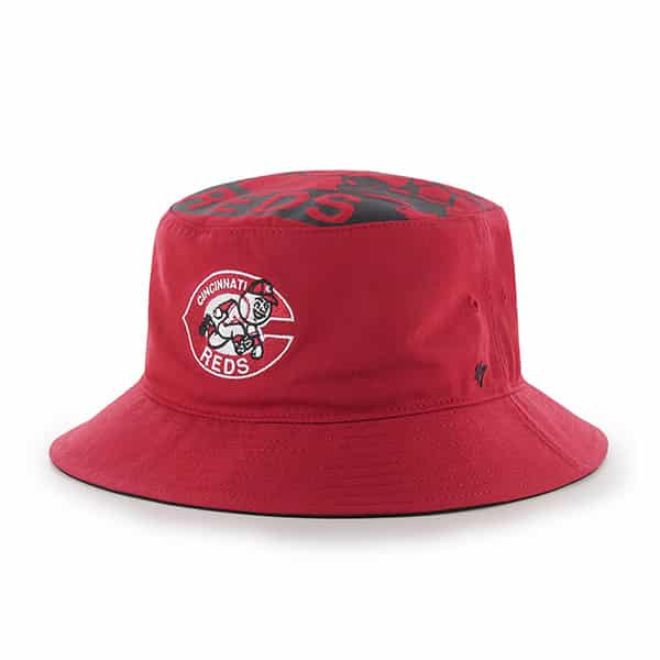 Cincinnati Reds Stapleton Bucket Red 47 Brand Hat