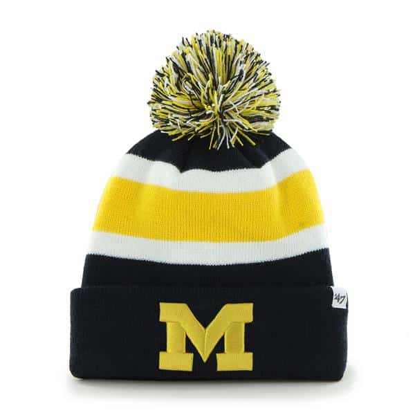 Michigan Wolverines Breakaway Cuff Knit Navy 47 Brand Hat