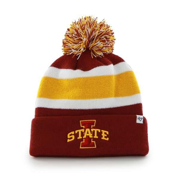Iowa State Cyclones Breakaway Cuff Knit Razor Red 47 Brand Hat