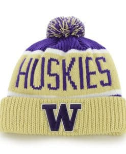Washington Huskies Calgary Cuff Knit Purple 47 Brand Hat