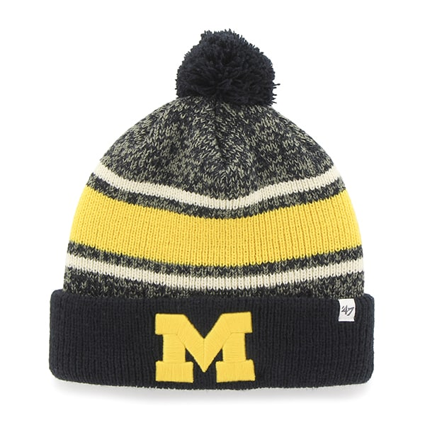 Michigan Wolverines Fairfax Cuff Knit Navy 47 Brand Hat