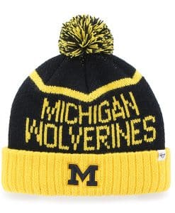 Michigan Wolverines Linesman Cuff Knit Navy 47 Brand Hat