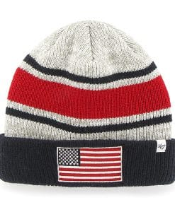 Operation Hat Trick Oht Broten Cuff Knit Gray 47 Brand USA Flag Hat