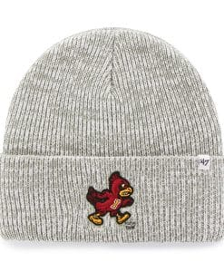 Iowa State Cyclones Brain Freeze Cuff Knit Gray 47 Brand Hat