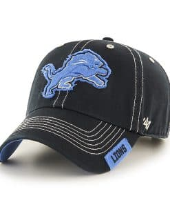 Detroit Lions 47 Brand Rockwell Black Clean Up Hat