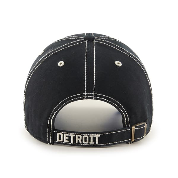 Detroit Lions 47 Brand Rockwell Black Clean Up Hat Back
