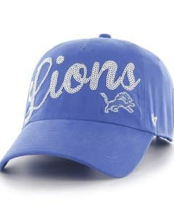 Detroit Lions Blue Raz Sparkle 47 Brand Women's Adjustable Hat