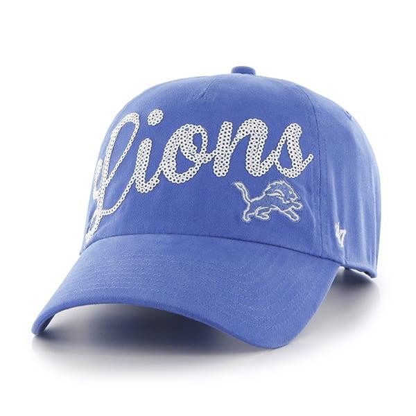7c7443a5 Detroit Lions Blue Raz Sparkle 47 Brand Womens Adjustable Hat