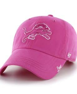 Detroit Lions Women's 47 Brand Pink Clean Up Adjustable Hat