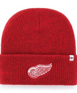 Detroit Red Wings 47 Brand Brain Freeze Red Cuff Knit Beanie Hat