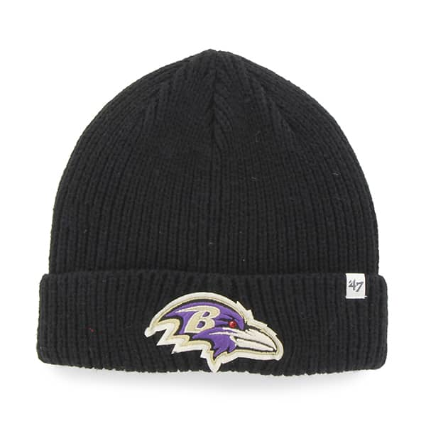 Baltimore Ravens Amesbury Cuff Knit Black 47 Brand Hat