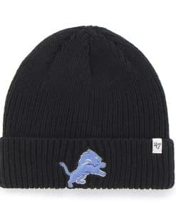 Detroit Lions Amesbury Cuff Knit Black 47 Brand Hat