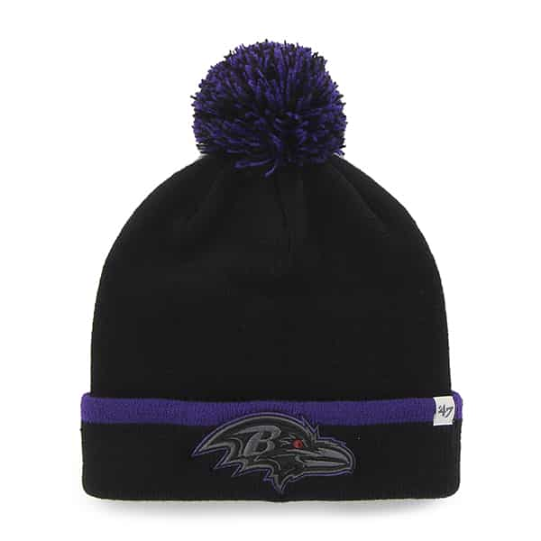 Baltimore Ravens Baraka Cuff Knit Black 47 Brand Hat