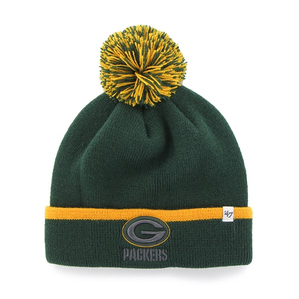 Green Bay Packers Baraka Cuff Knit Dark Green 47 Brand Hat