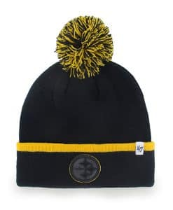 Pittsburgh Steelers Baraka Cuff Knit Black 47 Brand Hat