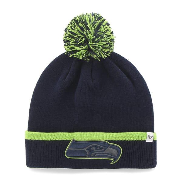 Seattle Seahawks Baraka Cuff Knit Light Navy 47 Brand Hat
