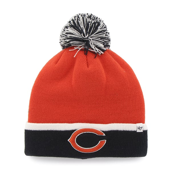 Chicago Bears Baraka Two Tone Cuff Knit Orange 47 Brand Hat