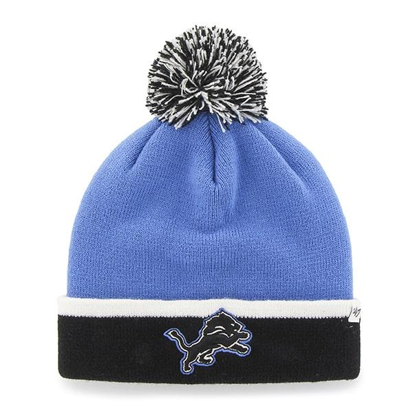 e809cd84704 Detroit Lions Baraka Two Tone Cuff Knit Blue Raz 47 Brand Hat ...