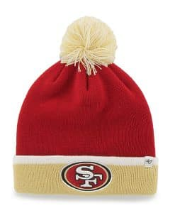 San Francisco 49Ers Baraka Two Tone Cuff Knit Red 47 Brand Hat