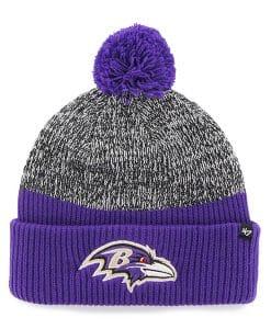 Baltimore Ravens Backdrop Cuff Knit Purple 47 Brand Hat