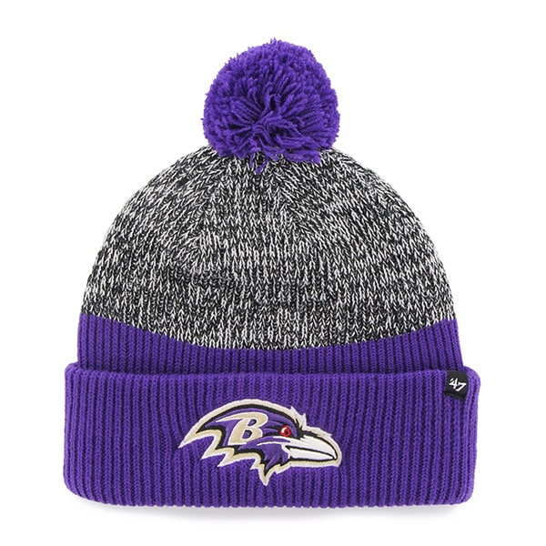 Baltimore Ravens Backdrop Cuff Knit Purple 47 Brand Hat