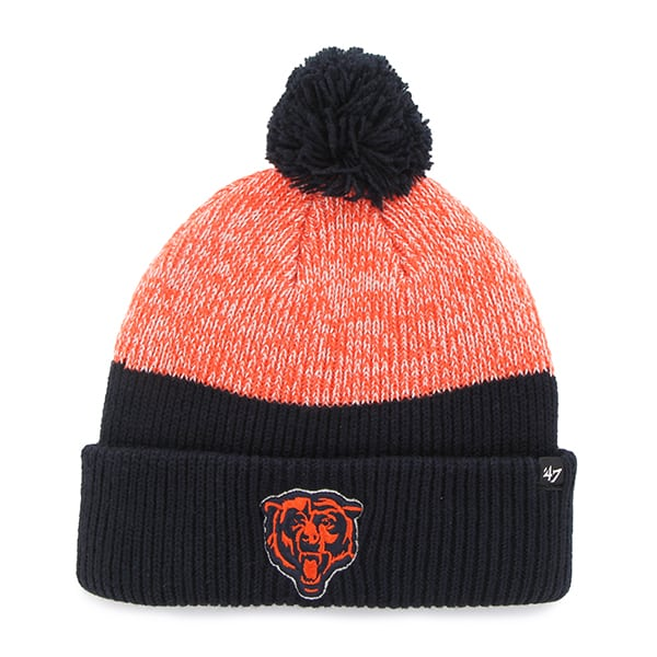 Chicago Bears Backdrop Cuff Knit Navy 47 Brand Hat