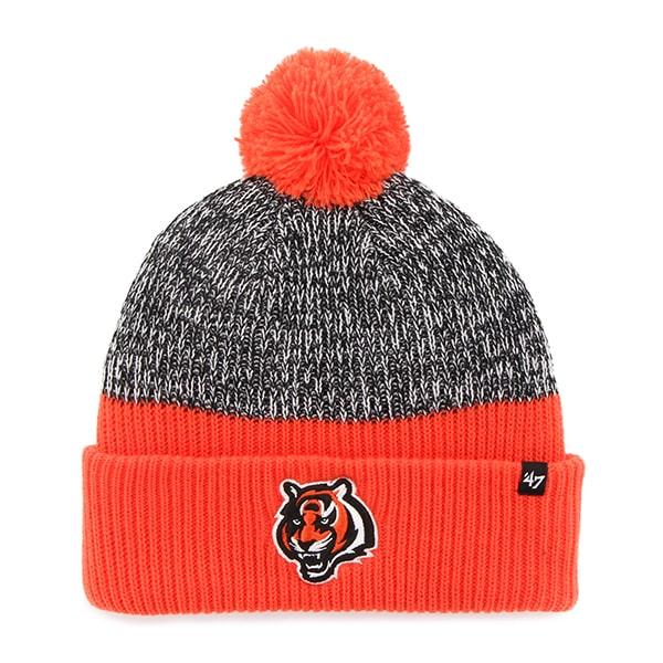 Cincinnati Bengals Backdrop Cuff Knit Orange 47 Brand Hat