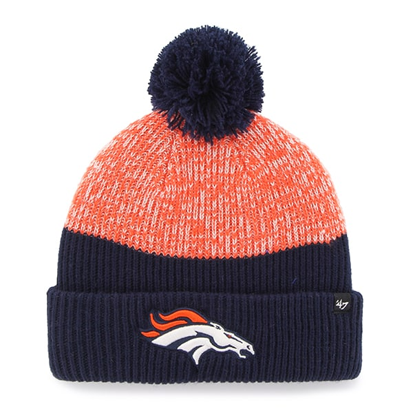 Denver Broncos Backdrop Cuff Knit Light Navy 47 Brand Hat