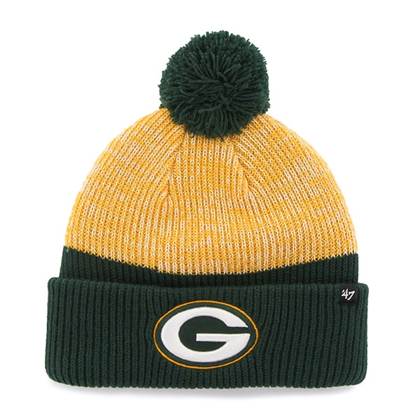 Green Bay Packers Backdrop Cuff Knit Dark Green 47 Brand Hat
