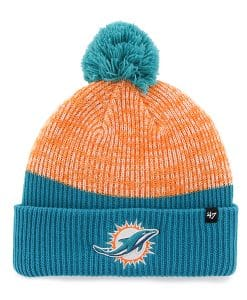 Miami Dolphins Backdrop Cuff Knit Neptune 47 Brand Hat