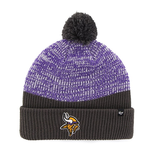 Minnesota Vikings Backdrop Cuff Knit Charcoal 47 Brand Hat