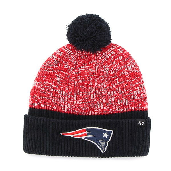 New England Patriots Backdrop Cuff Knit Navy 47 Brand Hat