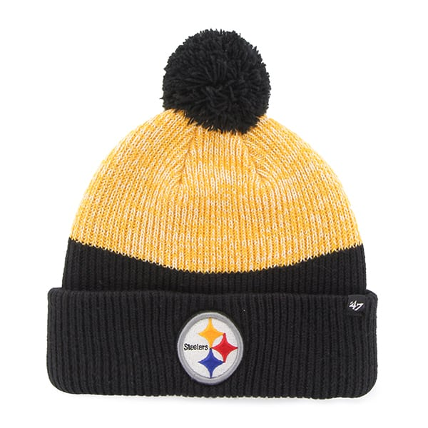 Pittsburgh Steelers Backdrop Cuff Knit Black 47 Brand Hat