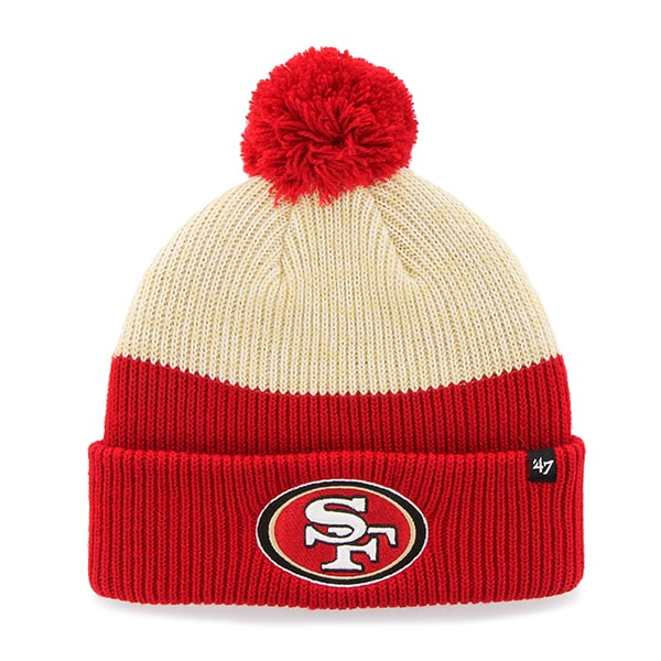 San Francisco 49Ers Backdrop Cuff Knit Red 47 Brand Hat