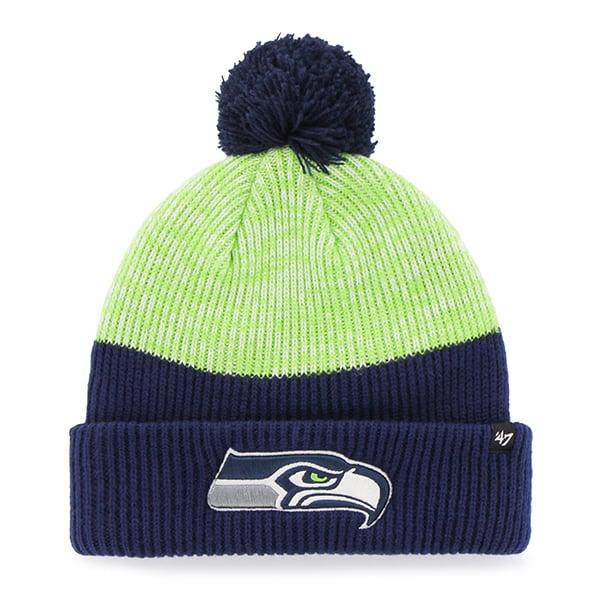 Seattle Seahawks Backdrop Cuff Knit Light Navy 47 Brand Hat