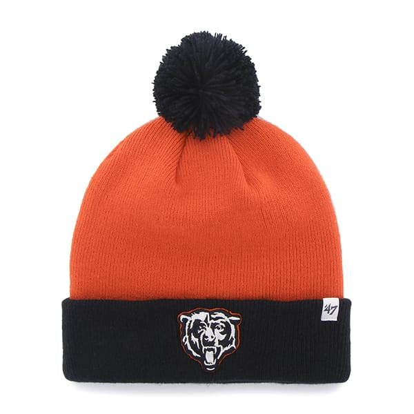 Chicago Bears Bounder Cuff Knit Orange 47 Brand Hat