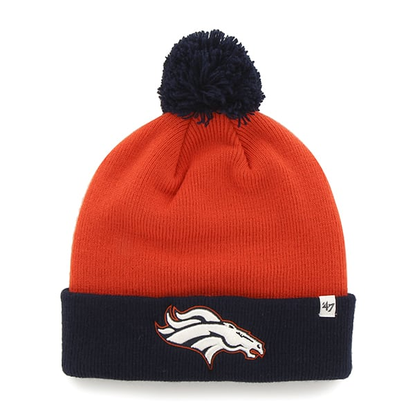 Denver Broncos Bounder Cuff Knit Orange 47 Brand Hat