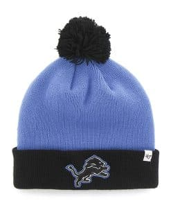 Detroit Lions Bounder Cuff Knit Blue Raz 47 Brand Hat