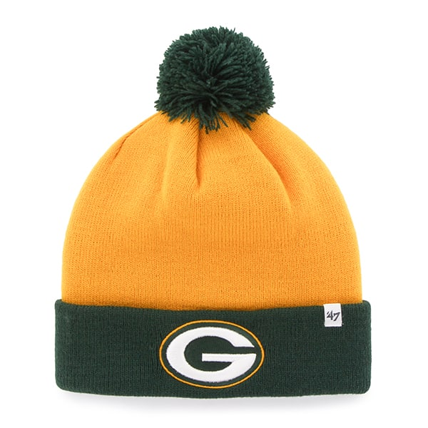 Green Bay Packers Bounder Cuff Knit Cheddar 47 Brand Hat