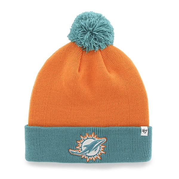 Miami Dolphins Bounder Cuff Knit Pylon 47 Brand Hat