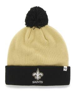 New Orleans Saints Bounder Cuff Knit Light Gold 47 Brand Hat