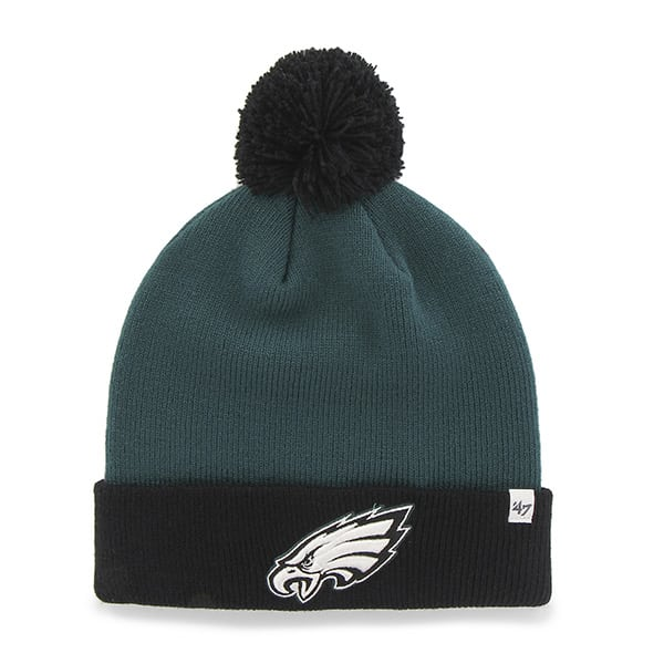 Philadelphia Eagles Bounder Cuff Knit Pacific Green 47 Brand Hat