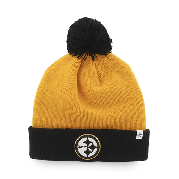 Pittsburgh Steelers Bounder Cuff Knit Gold 47 Brand Hat
