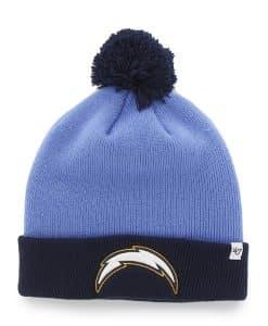 San Diego Chargers Bounder Cuff Knit Blue Raz 47 Brand Hat