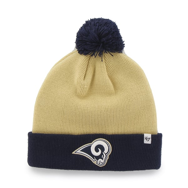Los Angeles Rams Bounder Cuff Knit Light Gold 47 Brand Hat