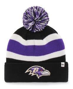 Baltimore Ravens Breakaway Cuff Knit Black 47 Brand Hat