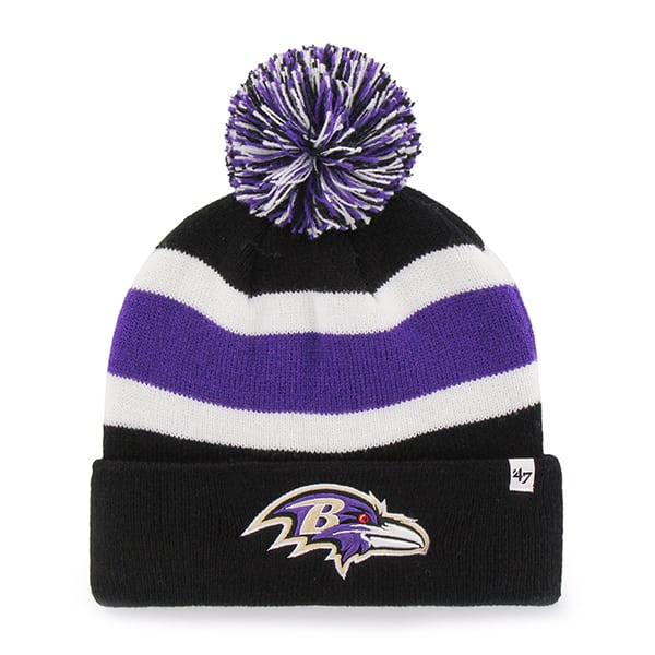 Baltimore Ravens Breakaway Cuff Knit Black 47 Brand Hat