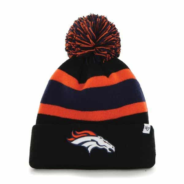Denver Broncos Breakaway Cuff Knit Black 47 Brand Hat